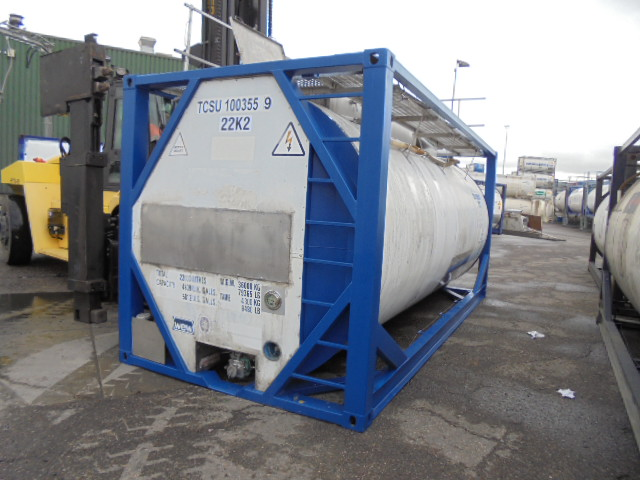 22000 liters IMO-1 tank container with Baffles Inside