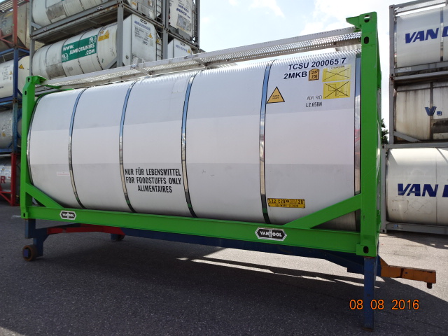 24000 liters IMO-2 Foodstuff tank container